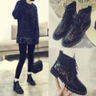 Embellished Brogue Ankle Boots