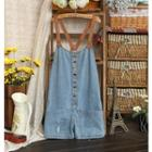 Buttoned Dungaree Shorts