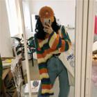 Rainbow Block Sweater Stripe - Multicolor - One Size