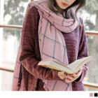 Embossed Plaid Scarf