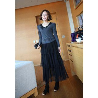 Layered Tulle Maxi Skirt