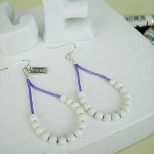 Fresh Bead Earrings(purple)