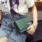 Buckled Faux-leather Chain Strap Shoulder Bag