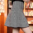 High Waist A-line Knit Skirt