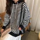Striped Hoodie Stripe - Black & White - One Size
