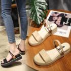 Platform Double Strap Sandals