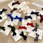 Set Of 2: Bow Velvet Hair Pin