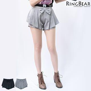 Bow Front Pleated Shorts