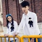Couple Matching Embroidered Shirt