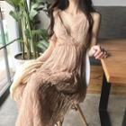 Shirred Sleeveless Dress