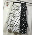 Dotted Layered Midi Skirt