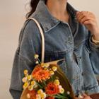 Cropped Oversize Denim Jacket Blue - One Size