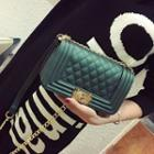 Buckled Chained Quilted Shoulder Bag