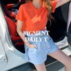 Colored Pigment Cotton T-shirt