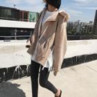 Side-zip Detail Hooded Zip Jacket
