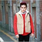 Fleece-lined Snap-button Vest