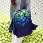 Angel Wings Print Nylon Backpack
