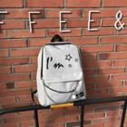 Chain Detail Printed Canvas Backpack