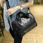 Faux-leather Studded Tote