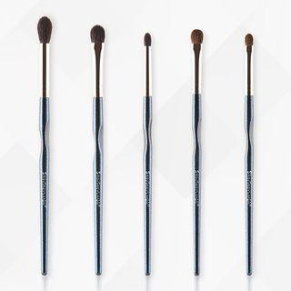 Set Of 5: Makeup Brush Set Of 5 - As Shown In Figure - One Size