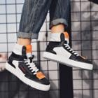 Applique Lace-up High-top Sneakers