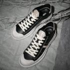 Genuine Leather Color Panel Sneakers