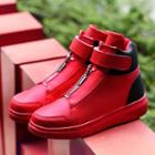 Zipped Velcro High Top Sneakers
