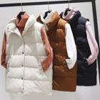 Stand Collar Buttoned Padded Vest