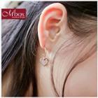 Rhinestone Heart Drop Earrings
