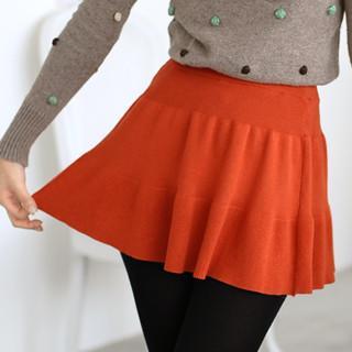 Knit Skirt Orange - One Size