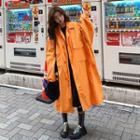 Zipped Long Trench Coat