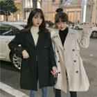 Double-breasted Drawstring Trench Coat