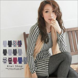 Patterned Long Knit Top