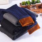 Striped Fleece Lined Leggings