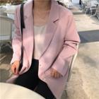 Single-button Blazer Pink - One Size