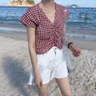 Plaid Short Sleeve Top