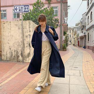 Single-breasted Flap-back Trench Coat