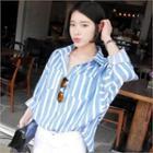Stripe Drop-shoulder Shirt