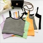 Sleeveless Cropped Knit Top