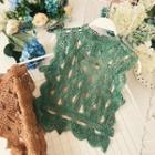 Set: Plain Camisole Top + Lace Tank Top