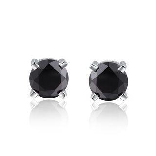 925 Sterling Silver Black Cz Stud Earrings (5mm) Women Jewelry Gift