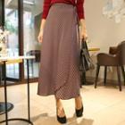 Striped Long Wrap Skirt