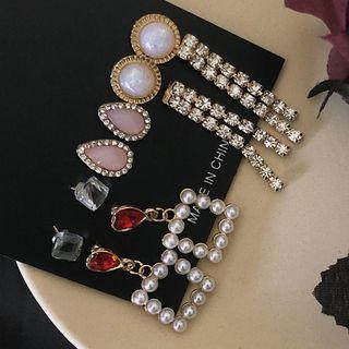 Set: Earring (various Designs) 0168a# - Set - Classic Earrings - Multicolor - One Size