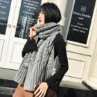 Plain Cable Knit Scarf