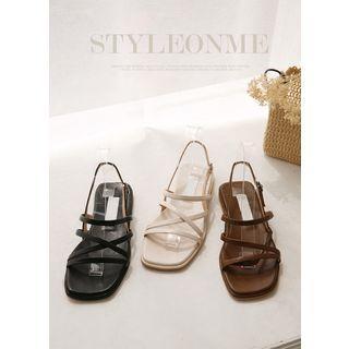Cross-strap Ankle-strap Sandals
