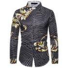 Striped & Floral Print Shirt