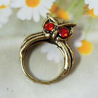 Owl Ring Copper - One Size