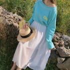 Dotted Maxi Chiffon Skirt