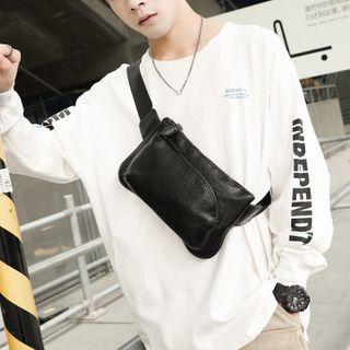 Faux Leather Belt Bag Premium Edition - Litchi Grain - Black - One Size