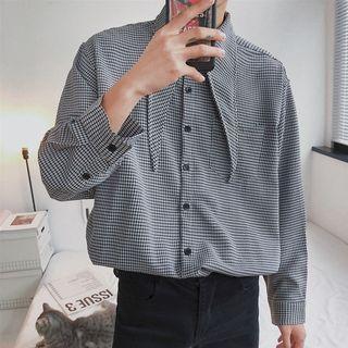 Houndstooth Long-sleeve Shirt